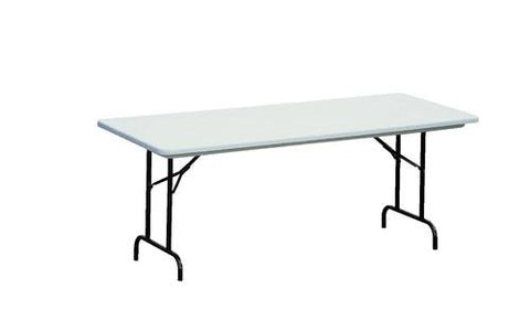"Blow-Molded Folding Table, 30"" W x 72"" L x 22""-32"" H, Adj."