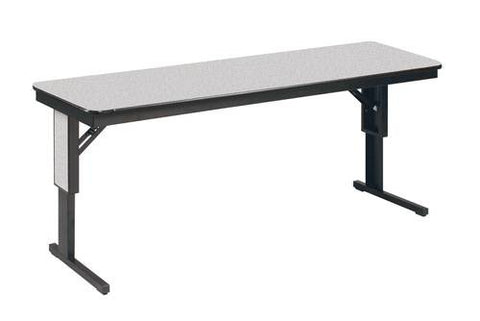"Decorator Series Folding Table, 18"" W x 72"" L, Adjustable Height"