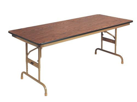 "Super Strength Adjustable Height Folding Table, Laminate Top, Honeycomb Core, 36"" W x 96"" L"
