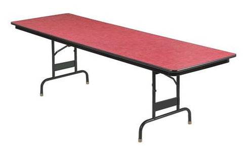 "Adjustable-Height Super Strength Folding Table, 30"" W x 96"" L"