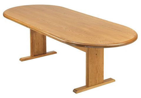 "Oval Conference Table with Trestle Base, 120"" x 46"""