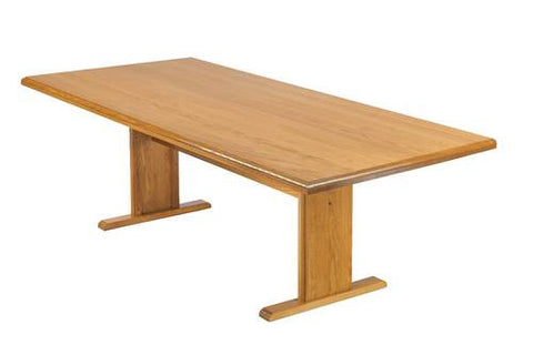"Rectangular Conference Table with Trestle Base, 120"" x 46"""