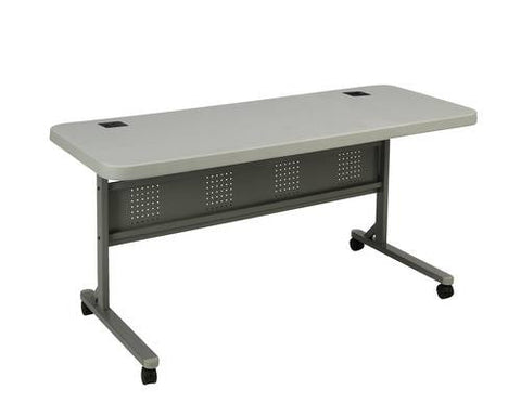"Flip-N-Store Blow-Molded Plastic Training Table, 60"" W x 24"" D"