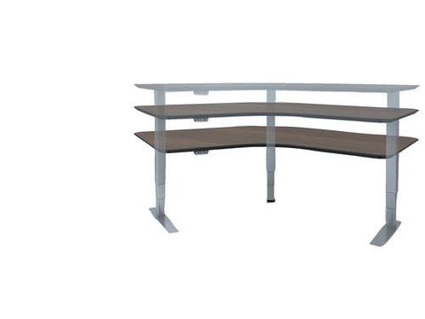"Levitate, Electric Height Adjustable Table, 90° Corner, 60"" x 60"" x 24"""