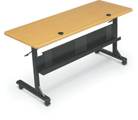 "Mobile Flip-Top Training Table, Rectangular, 60"" x 24"""
