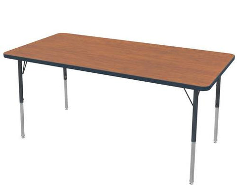 "Adjustable Height Activity Table, Low-Pressure Laminate Top, Rectangle,30"" x 48"""