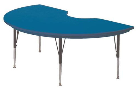 "Bright 'N Light Blow-Molded Activity Table, Kidney Shape 48"" W x 72"" L x 16""-25"" H"