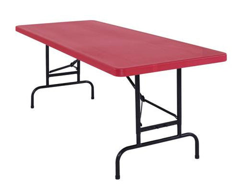 Bright and Colorful Folding Table, Adjustable Height