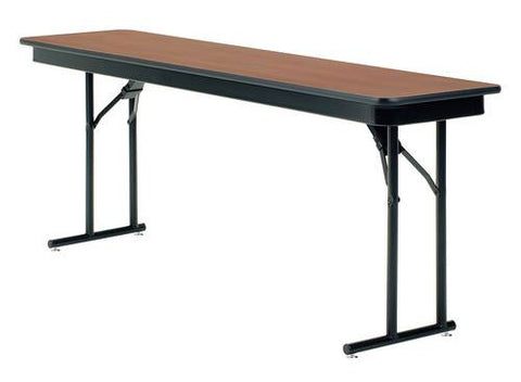 "Folding Seminar Training Table, 96"" X 18"", Particle Board Core Top"