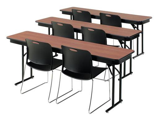 Folding Seminar Training Table X Particle Board Core Top - 18 x 60 training table