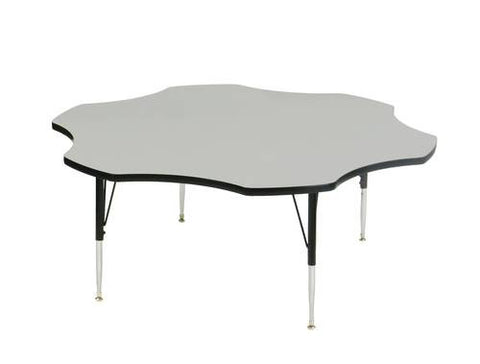 "EconoLine Activity Table with Adjustable Height Legs, 60"" Flower-Shaped"