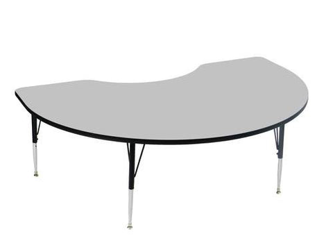 "EconoLine Activity Table with Adjustable Height Legs, 48"" x 72"" Kidney-Shaped"