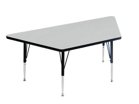 "EconoLine Activity Table with Adjustable Height Legs, 30"" x 30"" x 30"" x 60"" Trapezoid"
