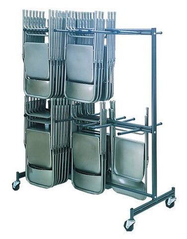 Chair Caddy, Double Tier, Hard Rubber Casters