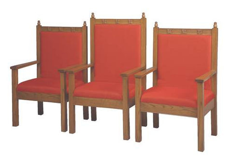 "Model 462102-GA 48"" high Center Arm Chair shown with 2 each Model 462101-GA 41"" high Side Arm Chairs."