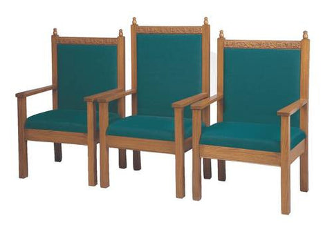 "Model 462107-GA 48"" high Center Arm Chair shown with 2 each Model 462105-GA 41"" high Side Arm Chairs."