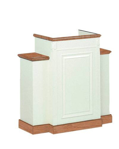 Colonial Scroll Cap Style Wing Pulpit