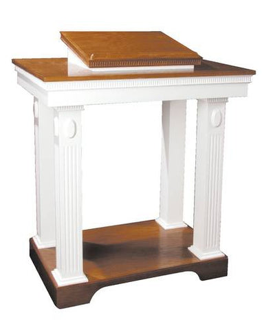 Colonial Scroll Cap Style Open Pulpit
