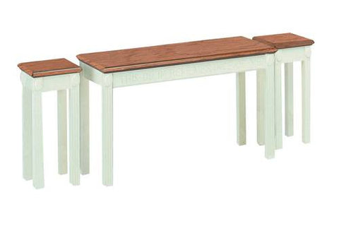 Model 462180 Communion Table shown with 2 each Model 462166 Flower Stands.
