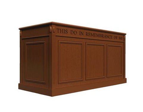 500 Series Scroll Cap Style Portable Baptistry/Communion Table