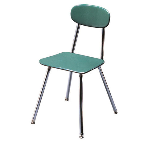 "Duralast Solid Plastic Posture Design Chair with Stacking X-Brace, 18"" Seat Height"