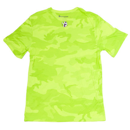 lime green camo shirt