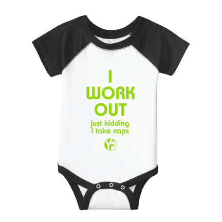 "Youfit ""I Work Out"" Baby Onesie"