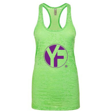 lime green tank top