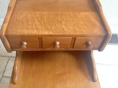Colonial End Table with Drawer Beige Vintage Baumritter