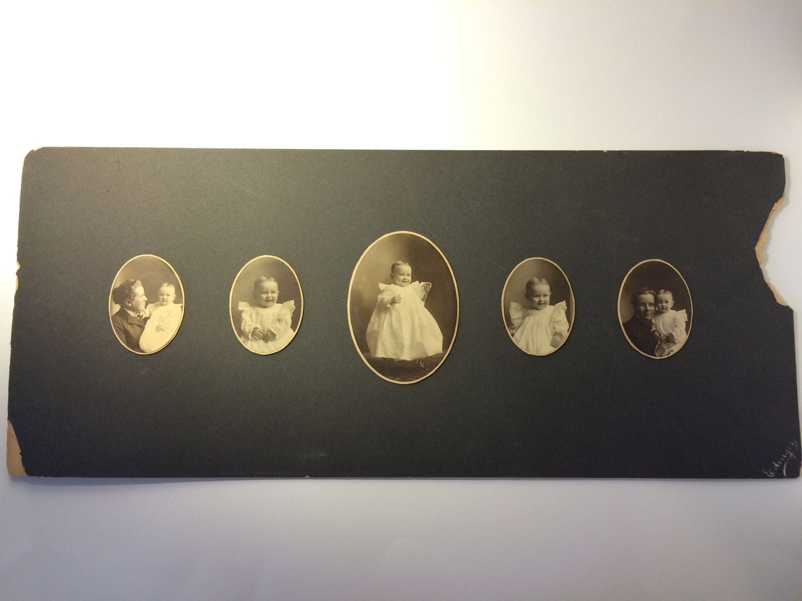 Antique photographs 1900 of Bernice & Georgina Warrick for Willand Family