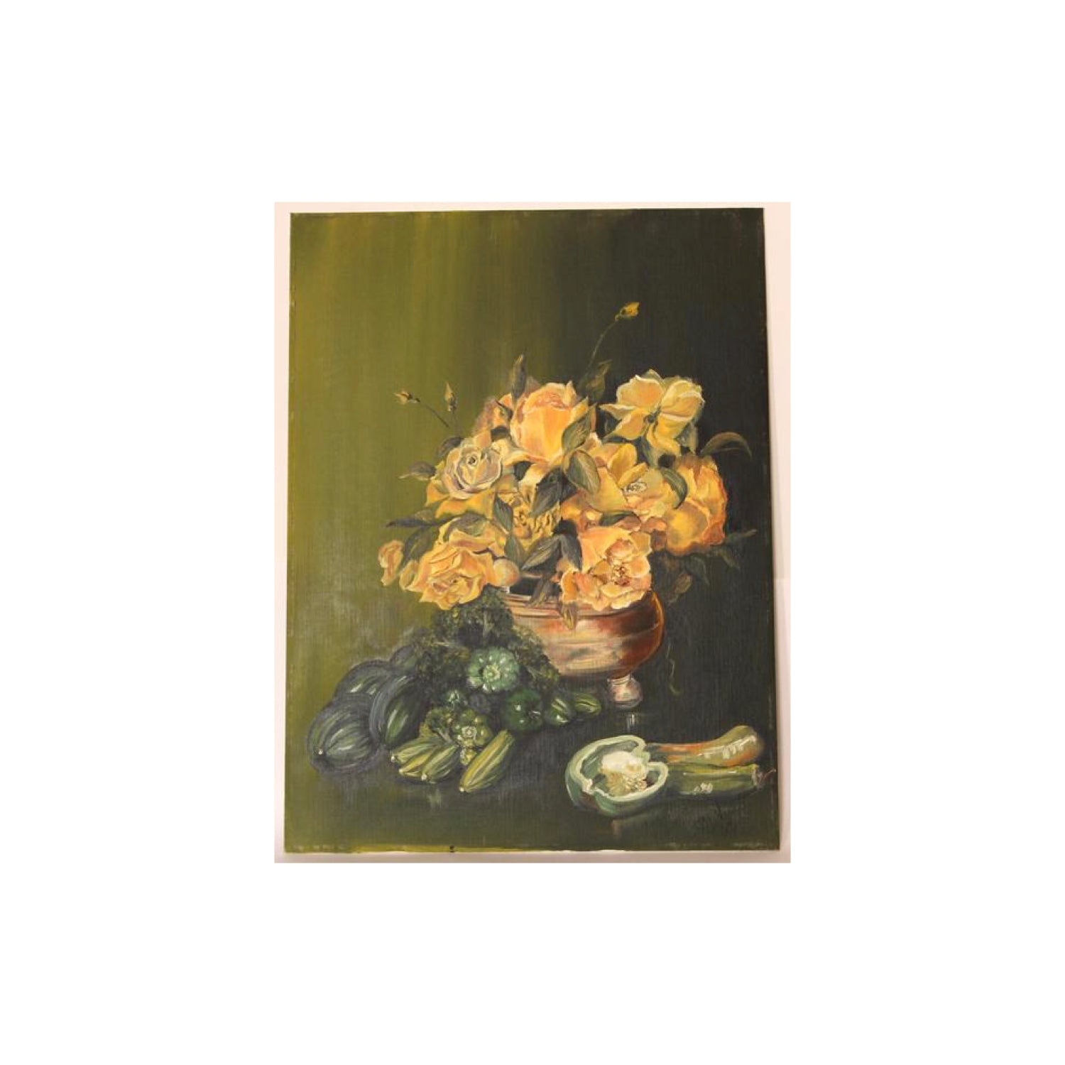Vintage Oil Painting Still life by BL Nouss 1969