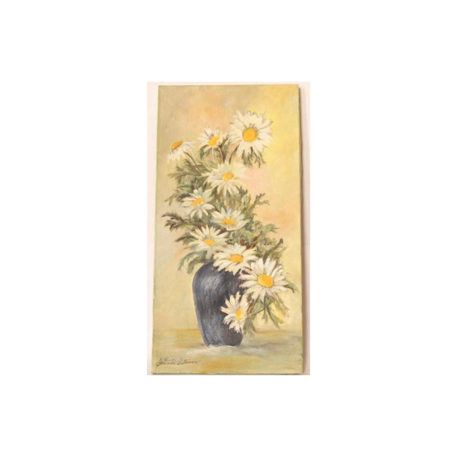 Vintage Oil Painting Flowers by Gertrude Sullivan