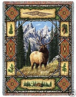 70x53 ELK Lodge Throw Blanket