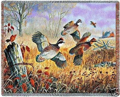 70x53 QUAIL Throw Blanket