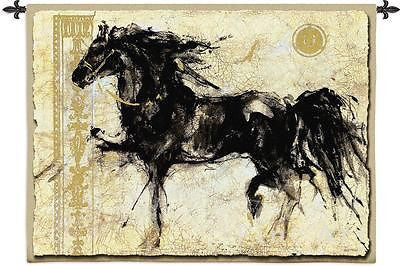 black horse tapestry wall hanging