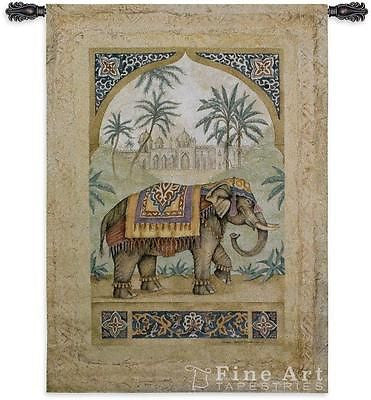 52x36 OLD WORLD ELEPHANT I Tapestry Wall Hanging