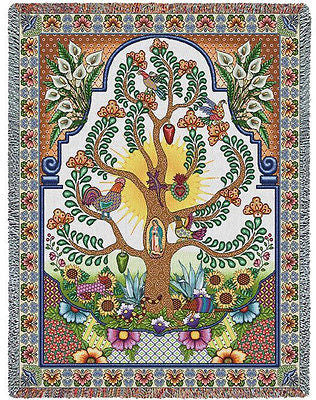70x54 ARBOLES DE LA VIDA Tree of Life Throw Blanket
