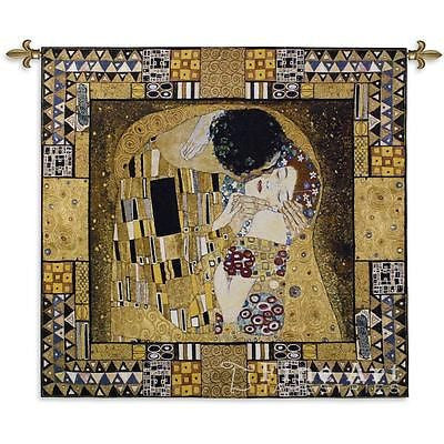 55x63 THE KISS CAPTURED Gustav Klimt Tapestry Wall Hanging