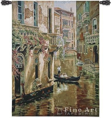 36x48 AFTERNOON CHAT Italy Tapestry Wall Hanging