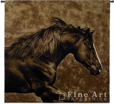 brown horse tapestry wall hanging
