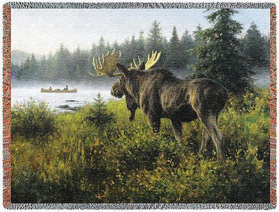 70x54 MOOSE Lake Throw Blanket