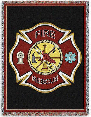 70x54 FIREFIGHTER SHIELD Throw Blanket