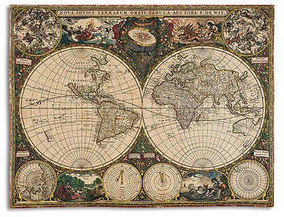 70x54 Old World Map Throw Blanket