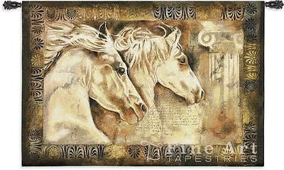 53x36 White Horses MESSENGERS OF SPIRIT Tapestry Wall Hanging