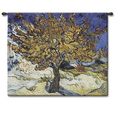 44x53 MULBERRY TREE Van Gogh Tapestry Wall Hanging