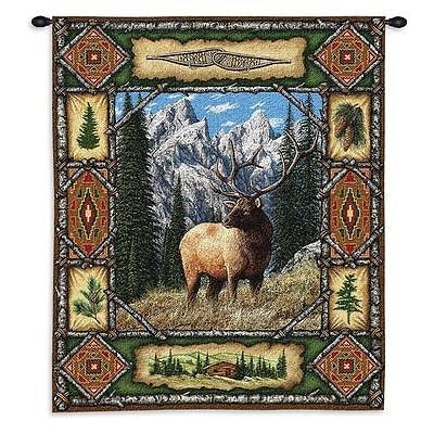 26x34 ELK Lodge Tapestry Wall Hanging