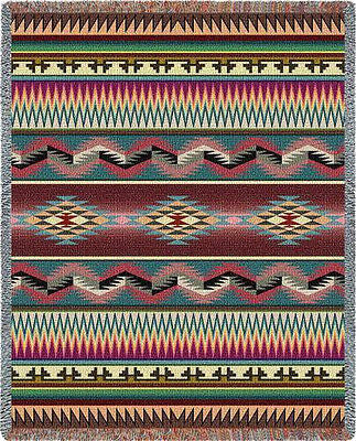 70x53 DESERT STRIPE Southwest Throw Blanket