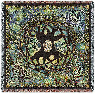 53x53 CELTIC TREE OF LIFE Tapestry Throw Blanket