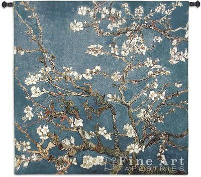 52x52 ALMOND BLOSSOM Floral Tapestry Wall Hanging
