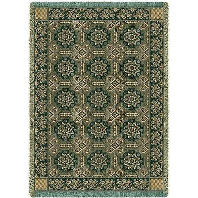 70x50 1845 Quilt Design Hunter Green Afghan Throw Blanket